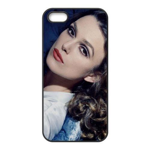 Keira Knightley Brunette Face Hair Celebrity 66120 coque iPhone 5 5S cellulaire cas coque de téléphone cas téléphone cellulaire noir couvercle EOKXLLNCD25261