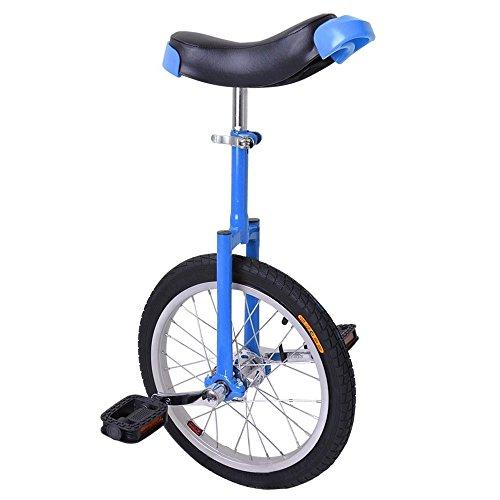 "16"" Wheel Blue & Black Adjustable Height Unicycle Balance Exercise"
