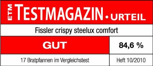 Amazon.com: Fissler FISS-12110124100 Crispy Steelux Comfort Fry Pan, 10