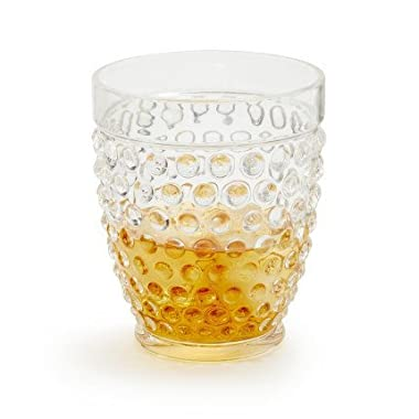 Sur La Table Hobnail Acrylic Double Old Fashioned FFC101RS , Clear