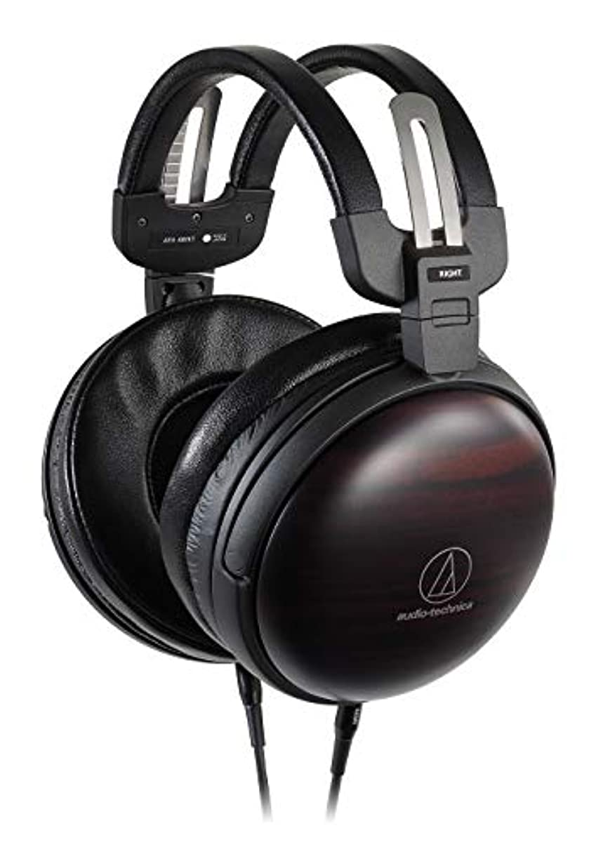 [해외] 오디오테크니카 AUDIO-TECHNICA 우드 하우징 오버이어 헤드폰 ATH-AWKT 하이레조대응 밸런스 접속 대응 밀폐형