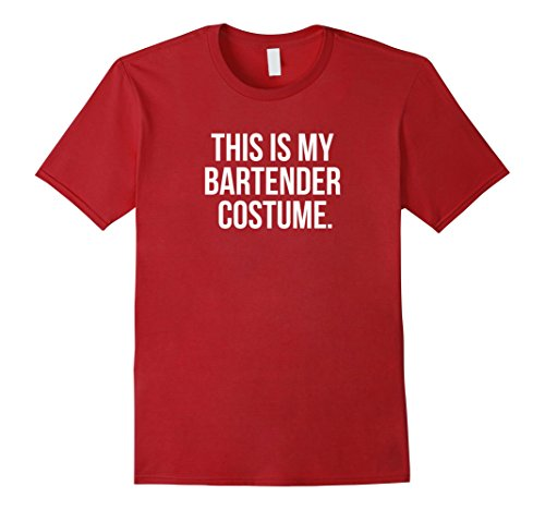 Red Cocktail Waitress Costumes (Mens This my Bartender Costume funny halloween tee shirt gift XL Cranberry)