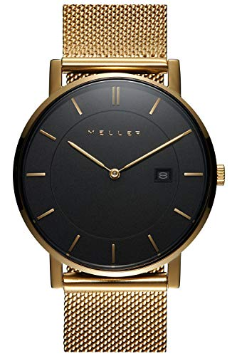 Meller astar All Gold l Unisex Analog Japanese Quartz Watch with Stainless Steel Gold Plated Bracelet 1ON-2GOLD from Meller