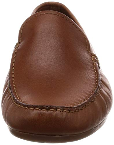 Clarks Leather tan Uomo Edge Reazor Marrone Mocassini 7rq0Ogw7