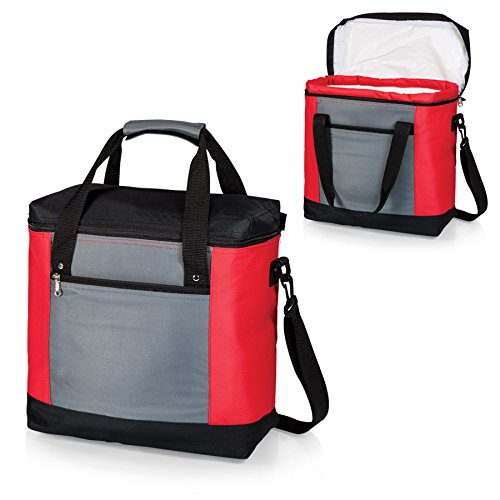 ONIVA - a Picnic Time brand Picnic Time Montero Insulated Cooler Tote, Red/Gray