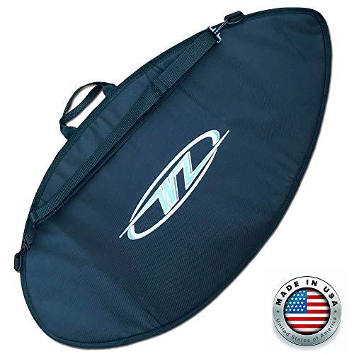 Wave Bag - Wave Zone Skimboards Bag - Travel or Day Use - Padded (Black, Medium - 53