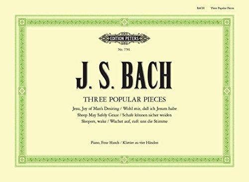 - Bach: Three Popular Pieces arranged for Piano Duet