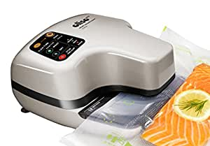 Oliso PRO Smart Vacuum Sealer - Best Food Saver - Vacuum Seals Dry Foods and Liquids - Great for Food Preservation and for Use With Your Sous Vide - Chrome