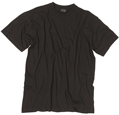 (Plain US BDU Style T-Shirt in Black, Olive Green or Coyote Khaki (4XL, Black))