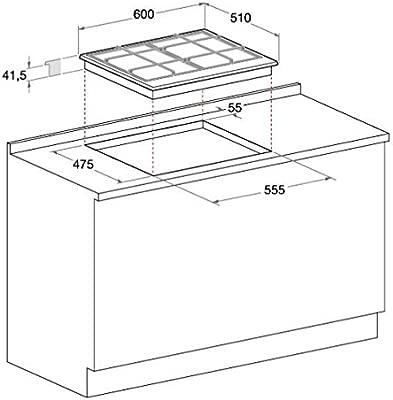 Hotpoint Ariston - Piano cottura a gas FTGHL 641 D/IX/HA ...