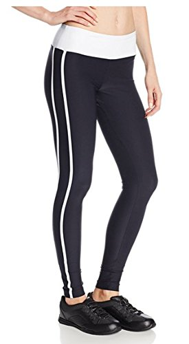 Steve Madden Women's 2-Pack Fitted Ankle Legging Side Stripe, White, -