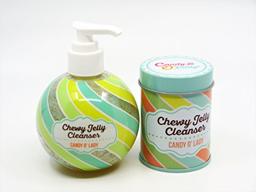 Chewy Jelly Cleanser by Candy O' Lady: Deep Pore Face Cleanser Gel w/ Colorful Collagen Capsules in Handy Dispenser/ Soothing Gel Cleanser for All Types Of Skin/ Leaves Skin Clean, Smooth & Healthy