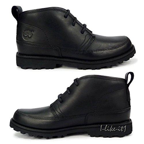 Timberland Schuhe Kinder 80742 Gr. 32 Boots Chukka Leder Schwarz