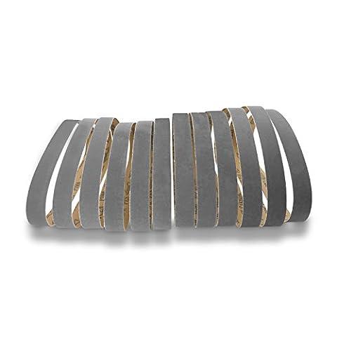 1 X 30 Inch Premium Silicon Carbide Fine Grit Sanding Belts 400, 600, 800, 1000 Grits, 12-Pack (30 Sanding Belt)