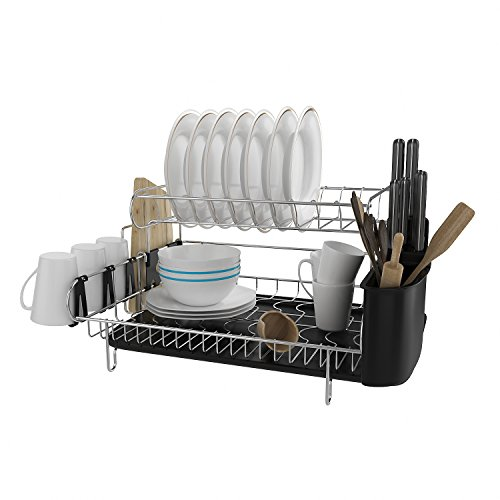 Athomestore 2 Tier Professional Dish Rack, 304 Stainless Ste