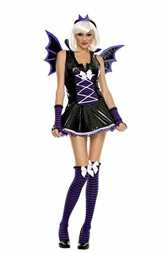 Music Legs Tween Vinyl Vampire Bat Girl Teen Halloween Costume (Batgirl Costumes For Tweens)