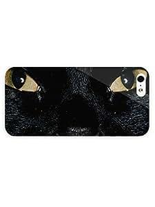 3d Full Wrap Case for iPhone 5/5s Animal Black Cat93