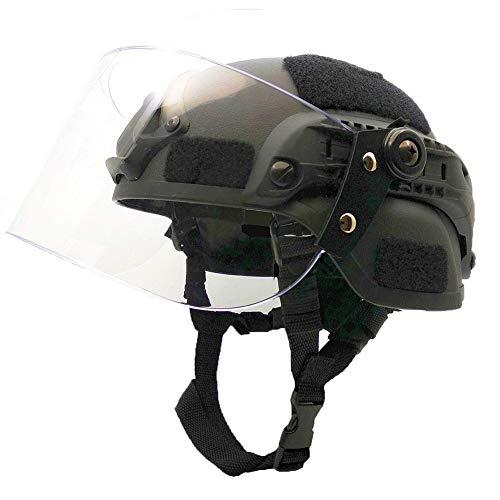 WLXW Casque Tactique de Paintball Airsoft, Casque de Combat Rapide de L'Armée MICH2000, avec Lunettes de Protection… 2