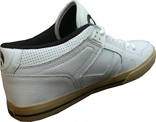 Osiris Skate Shoes --NYC 83 Mid VLC-- White Black Gum