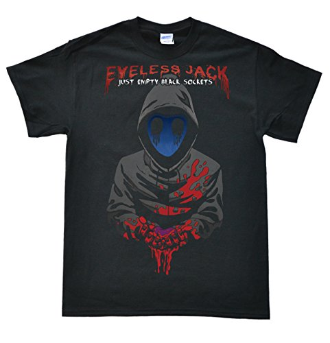 Stooble Men's Eyeless Jack Black T-Shirt, Size L