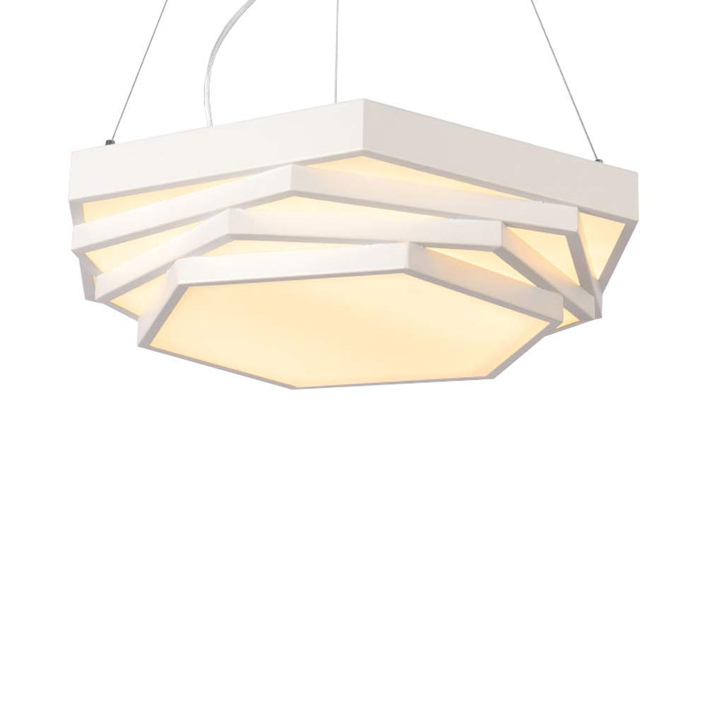 現代のミニマリストのファッションledシーリングライト、調節可能な装飾的な台形シャンデリアリビングルームの寝室のダイニングルームランプの装飾シャンデリア (色 : 白, 版 ばん : 白色光) B07S19G8SW 白 白色光