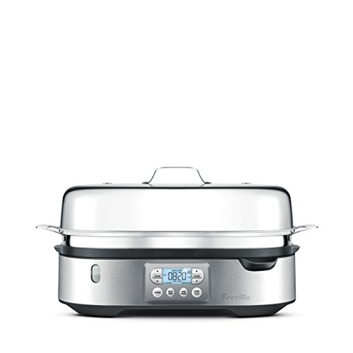 Breville BFS800BSS Steam Zone Food Steamer, Brushed Stainless - Stainless Poacher Fish