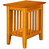 Atlantic Mission Chair Side Table Caramel Latte