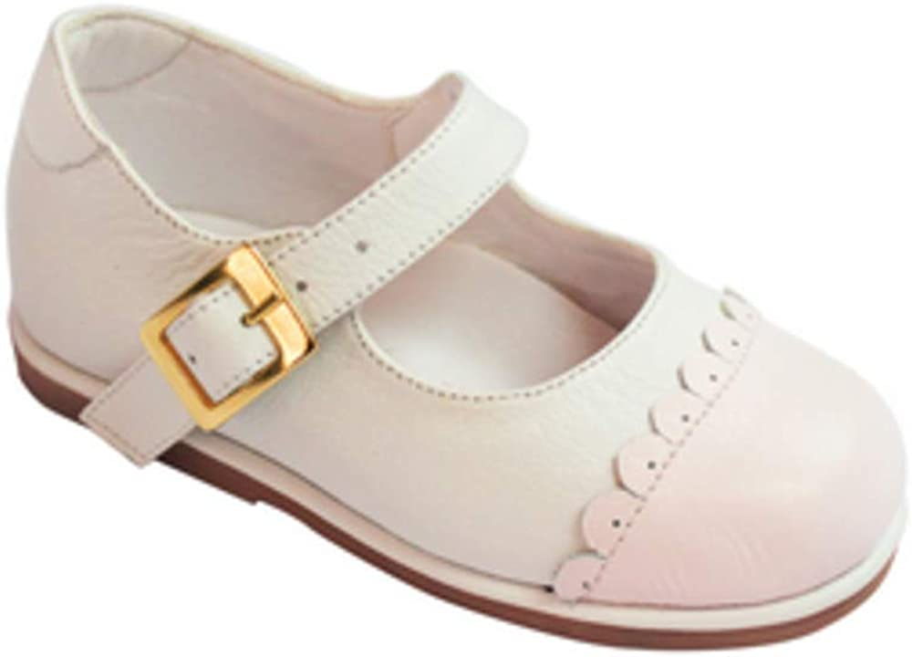 KARELA KIDS Toddler Girls White and Pink Mary Jane Shoes 069 Size
