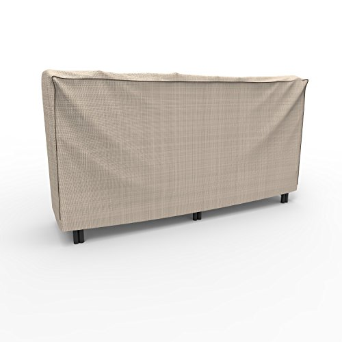 Budge English Garden Log Rack Cover P9A11PM1, Tan Tweed (2-ft L x 4-ft W x 4-ft - Wood Hickory Furniture