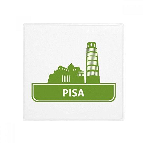 DIYthinker Pisa Italy Green Landmark Pattern Anti-Slip Floor Pet Mat Square Home Kitchen Door 80cm Gift