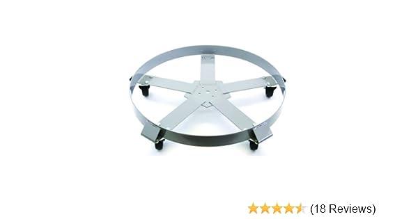 Drum Dolly 5 Gallon Bucket w Swivel Casters Heavy Duty Steel Frame Easy Rolling