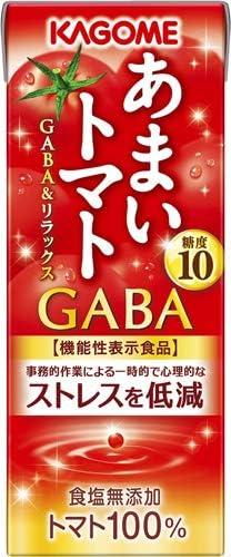 カゴメ あまいトマト GABA&リラックス 195ml 紙パック 96本 (24本入×4 まとめ買い)
