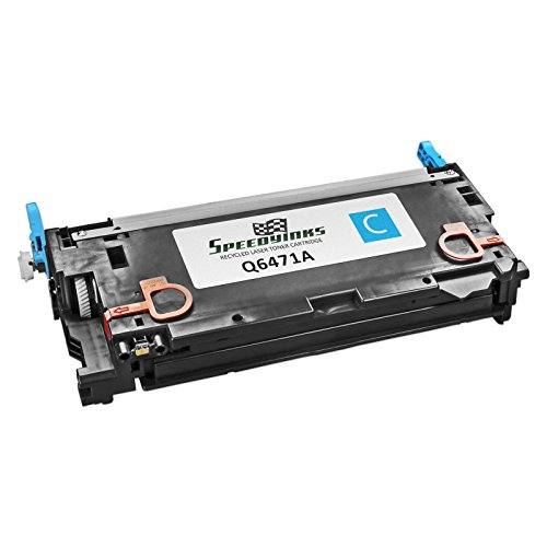 Speedy Inks - Remanufactured Replacement for HP 502A Q6471A Cyan Laser Toner Cartridge for use in Color LaserJet CP3505dn, Color LaserJet CP3505n, Color LaserJet CP3505x, Color LaserJet 3600, Color LaserJet 3600dn, Color LaserJet 3600n, Color LaserJet 380