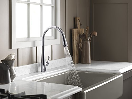 handle of hd sprayer faucets ideas pull single in down full kitchen faucet simplice contemporary kohler