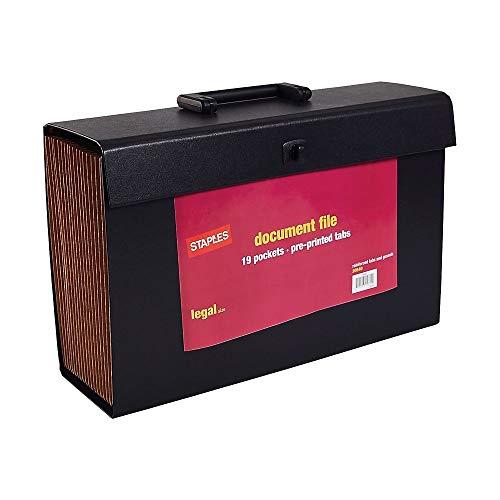 - Staples 906796 Expanding File A-Z Index Legal Size 19-Pocket Black (20540-Us)