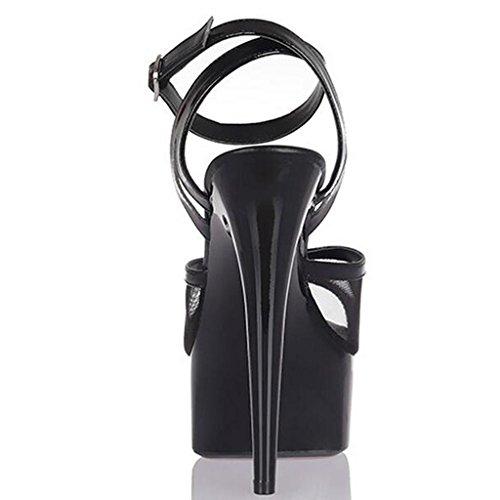 Filet 15cm lavoro Modello alti Banchetto Sandali A impermeabile scarpe spesso Donna Tacchi Llp di Fondo Piattaforma 5qwT6vf7
