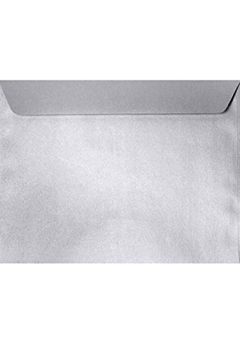 6 x 9 Booklet Envelopes - Silver Metallic (50 Qty) | Perfect for mailing Documents, Catalogs, Direct Mail, Promotional Material, Brochures and More| 4820-06-50
