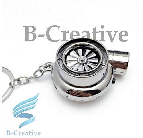 B-Creative UK Premium Quality LED Turbo Supercharger Rechargeable USB Electronic Cigarette Lighter Keyring KeyChain 2017 (Chrome Silver): Toys & Games