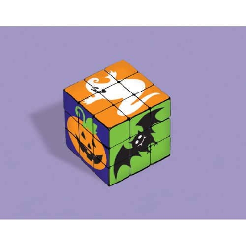 Family Friendly Halloween Trick or Treat Creepy Creatures Mini Puzzle Cube Party Favour, Plastic, 1