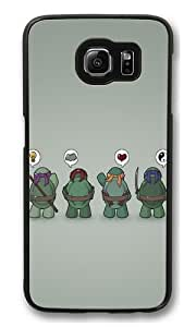 Funny Tmnt Teenage Mutant Ninja Turtles PC Case Cover for Samsung S6 and Samsung Galaxy S6 Black wangjiang maoyi
