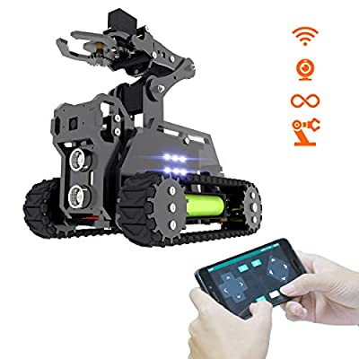 Adeept RaspTank WiFi Wireless Smart Robot Car Kit for Raspberry Pi 3 Model B+/B/2B, Tank Tracked Robot with 4-DOF Robotic Arm, OpenCV Target Tracking, Video Transmission, Raspberry Pi Robot with PDF: Computers & Accessories