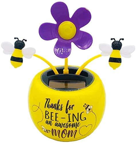 Biene Autozubeh/ör Cartoon-Autodekoration kreative Ornamente f/ür Kopfsch/ütteln mit Auto-Solarenergie Schmuck Energiesparende und umweltfreundliche Autozubeh/örteile