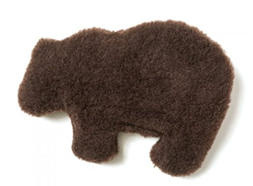 West Paw Design Gallatin Grizzly Squeak Toy for Dogs (Chocolate)
