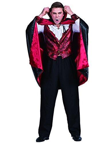 EraSpooky Men's Halloween Costume Vampire Suit Cloak Adult Bloody Cape for Men - Funny Cosplay Party -