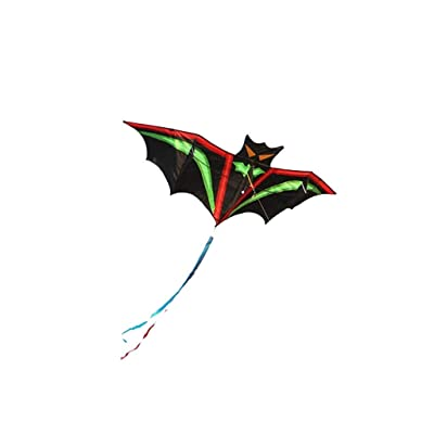 Haayward 1.9m Cartoon Bat Kites FRP Resin Rod Flying Sports Beach Ripstop Nylon Kitesurf Children Family Outdoor Sport: Toys & Games