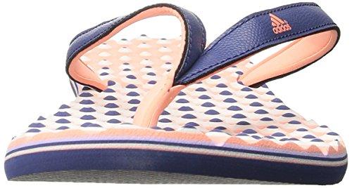 adidas Performance Eezay Dots Sportliche Zehentrenner Sandale - Damen Rohes Purpur / Sun Glow / Purple Glow Silber