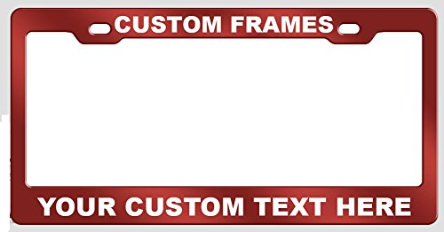 GoPlates Customized License Plate Frame Laser Engraved - Red ()