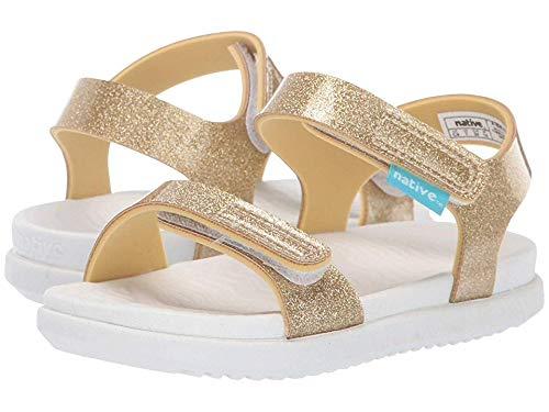 Native Kids Shoes Baby Girl's Charley Glitter (Toddler/Little Kid) Gold Glitter/Shell White 10 M US Toddler