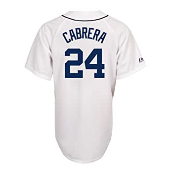 Miguel Cabrera Detroit Tigers Replica Home Jersey (White,Small)