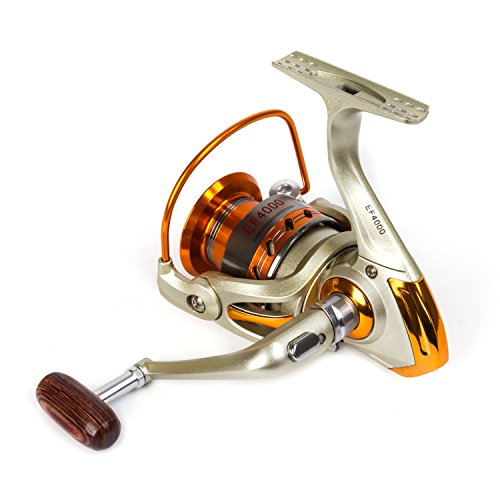 SUNVP Full Metal New Style Aluminum Saltwater Freshwater High Speed Fishing Reels Spinning Left/Right Gold For Sale